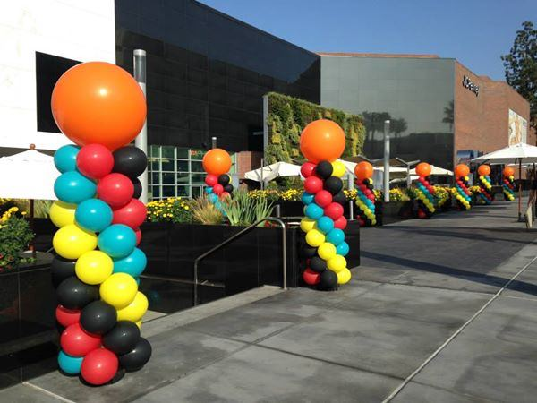 balloon columns by The BalloonGuyLA.com