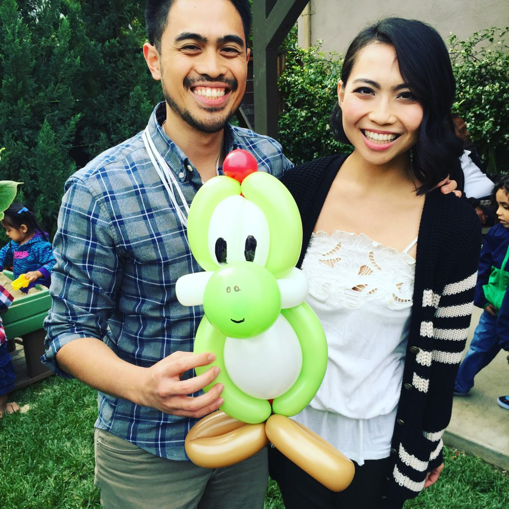 yoshi balloon by The BalloonGuyLA.com
