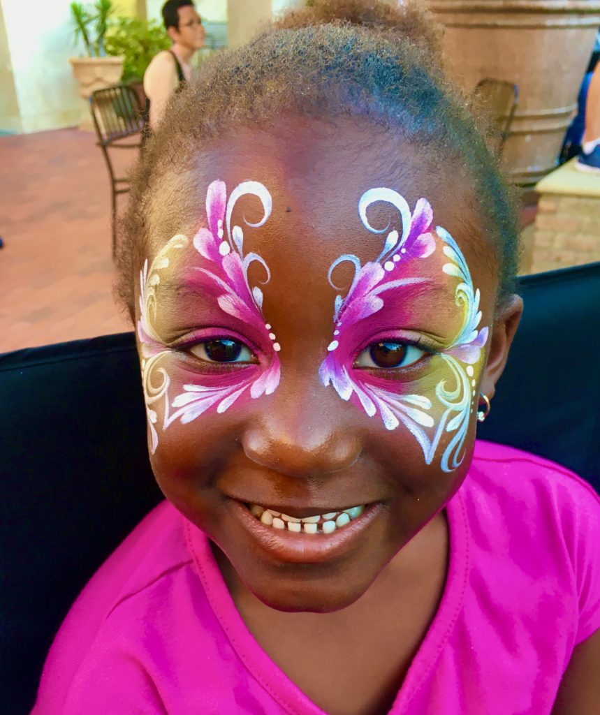 Butterfly Face Paint by TheBalloonGuyLA.com