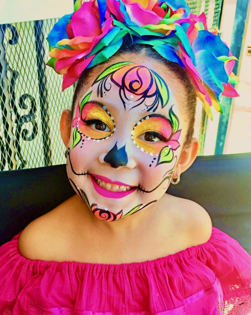 Rainbow Coco Face Paint by TheBalloonGuyLA.com